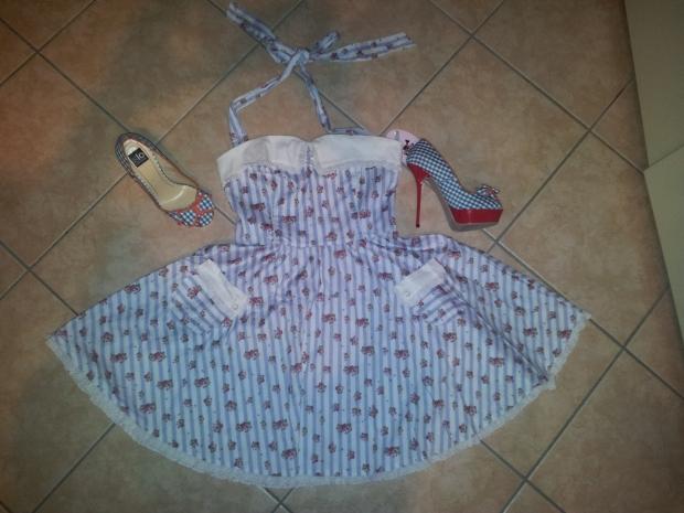 hell bunny floreal pattern stripe dress