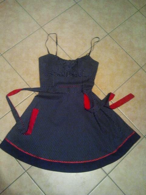 polka dots dress pinup style